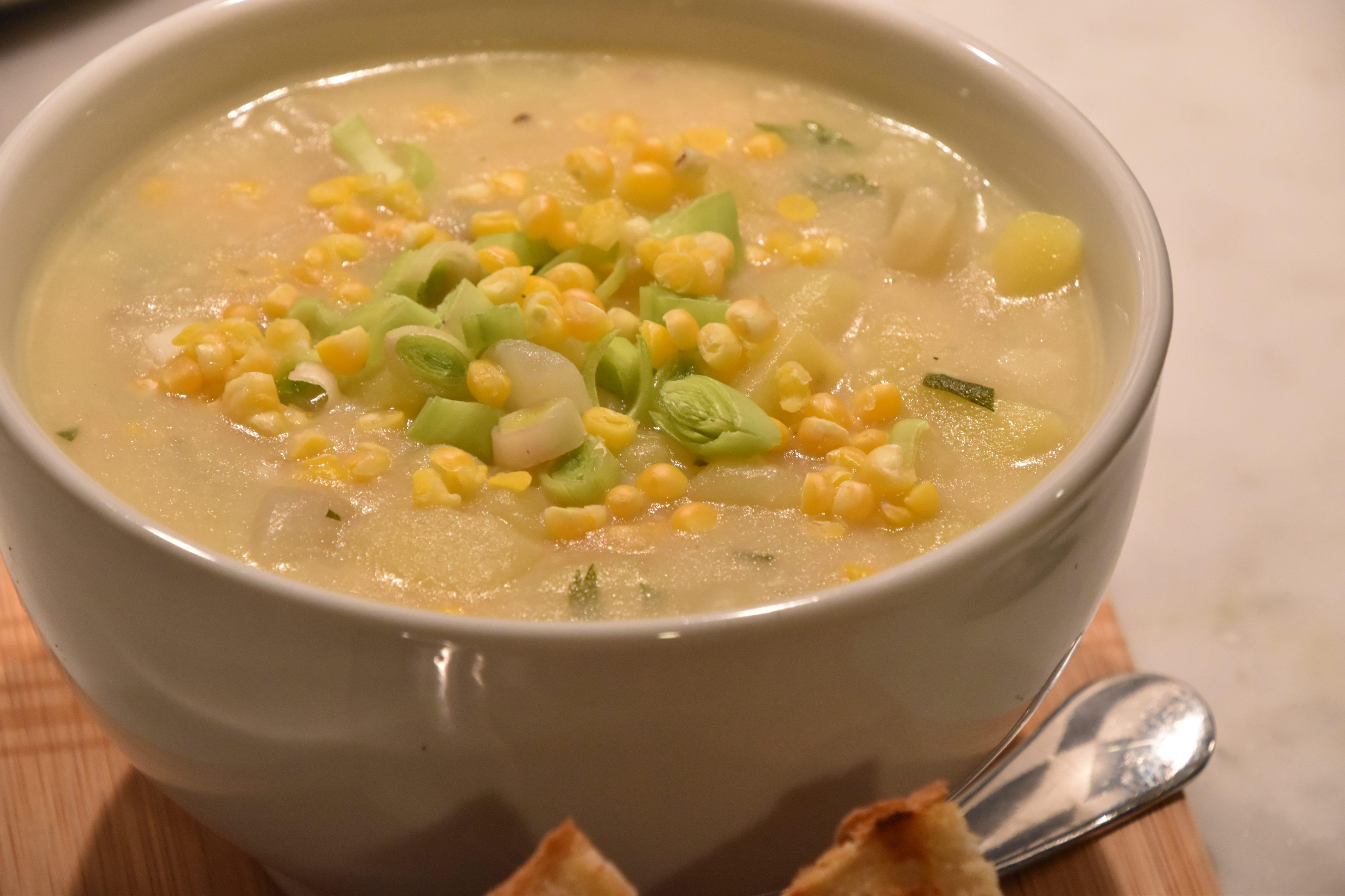 Creamy Potato & Corn Chowder