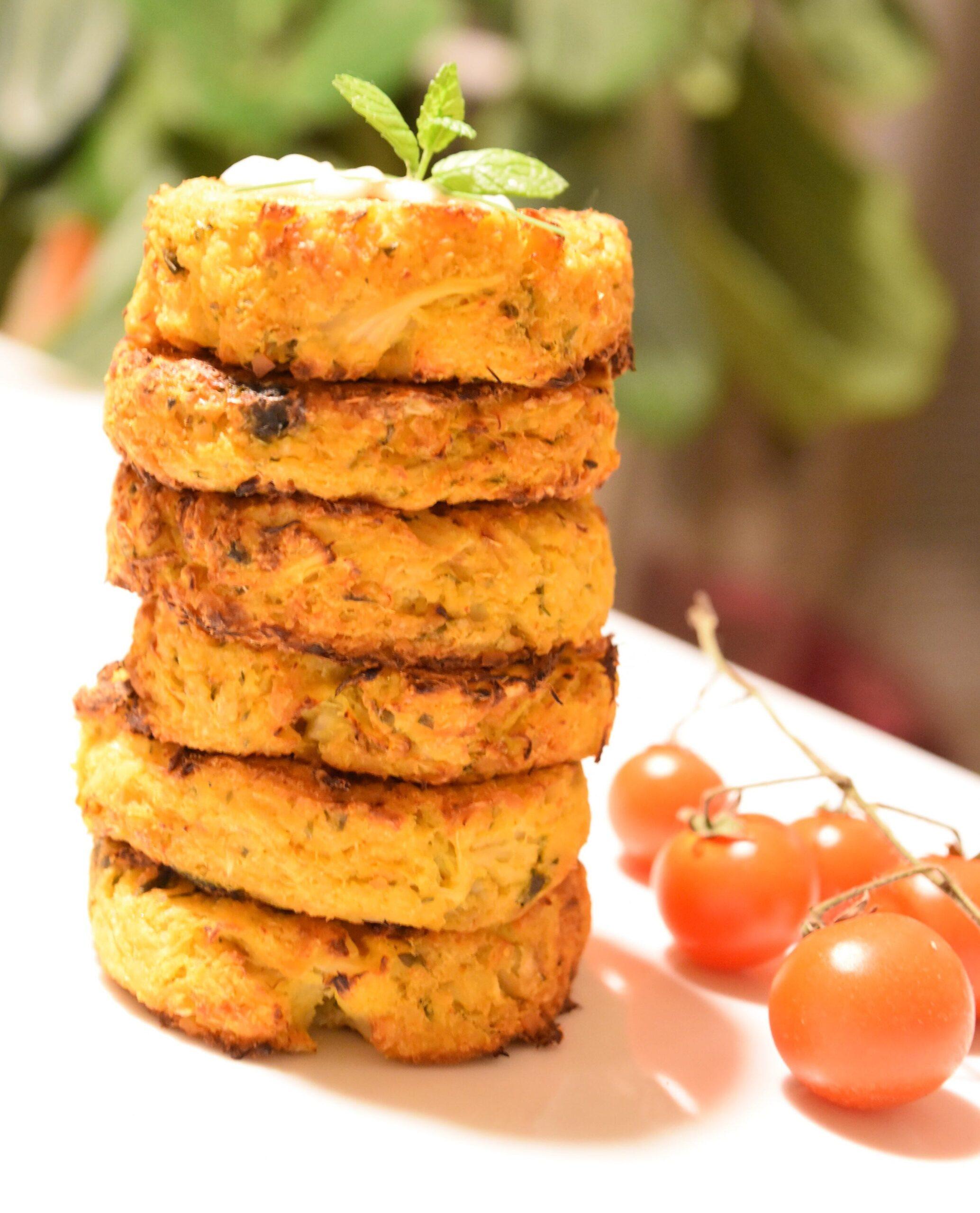 Spicy Cauliflower & Chickpea Cakes recipe