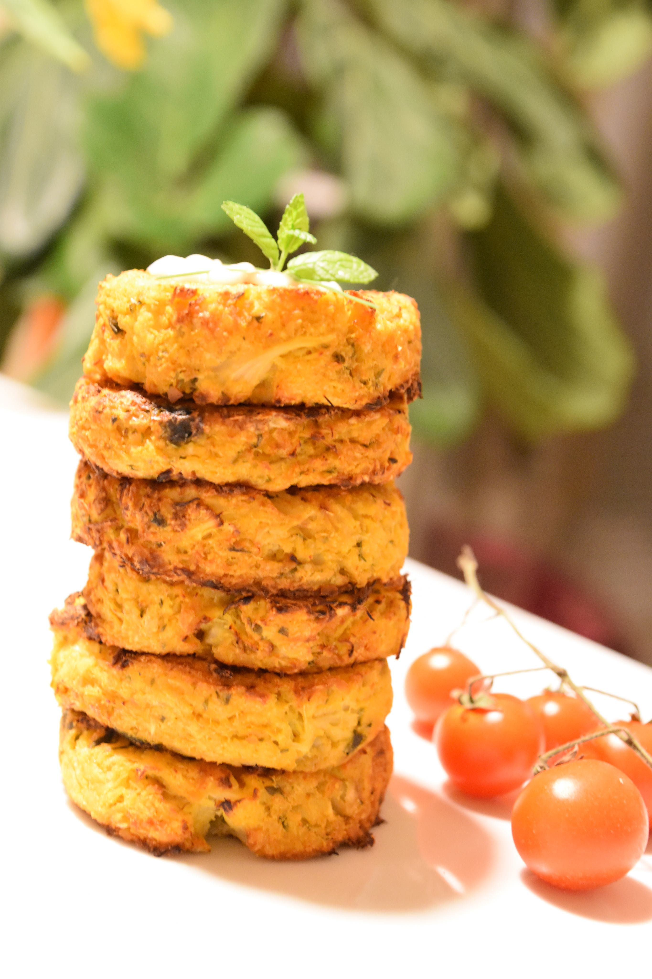 Spicy Cauliflower & Chickpea Cakes recipe