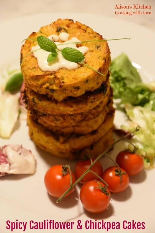 Spicy Cauliflower & Chickpea Cakes