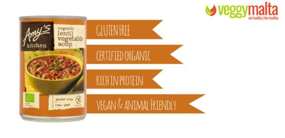 Amy's Kitchen Organic lentil vegetables soup