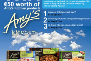 Facebook Competition – Win €50 worth of Amy's Kitchen products – ends 31st January 2019