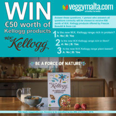 Facebook Competition – Win €50 worth of Kelloggs products – ends 28th February 2019
