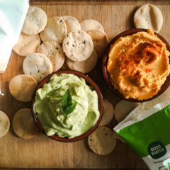Dip Combo: Sweet Potato Hummus/Creamy Mint Avocado Dip