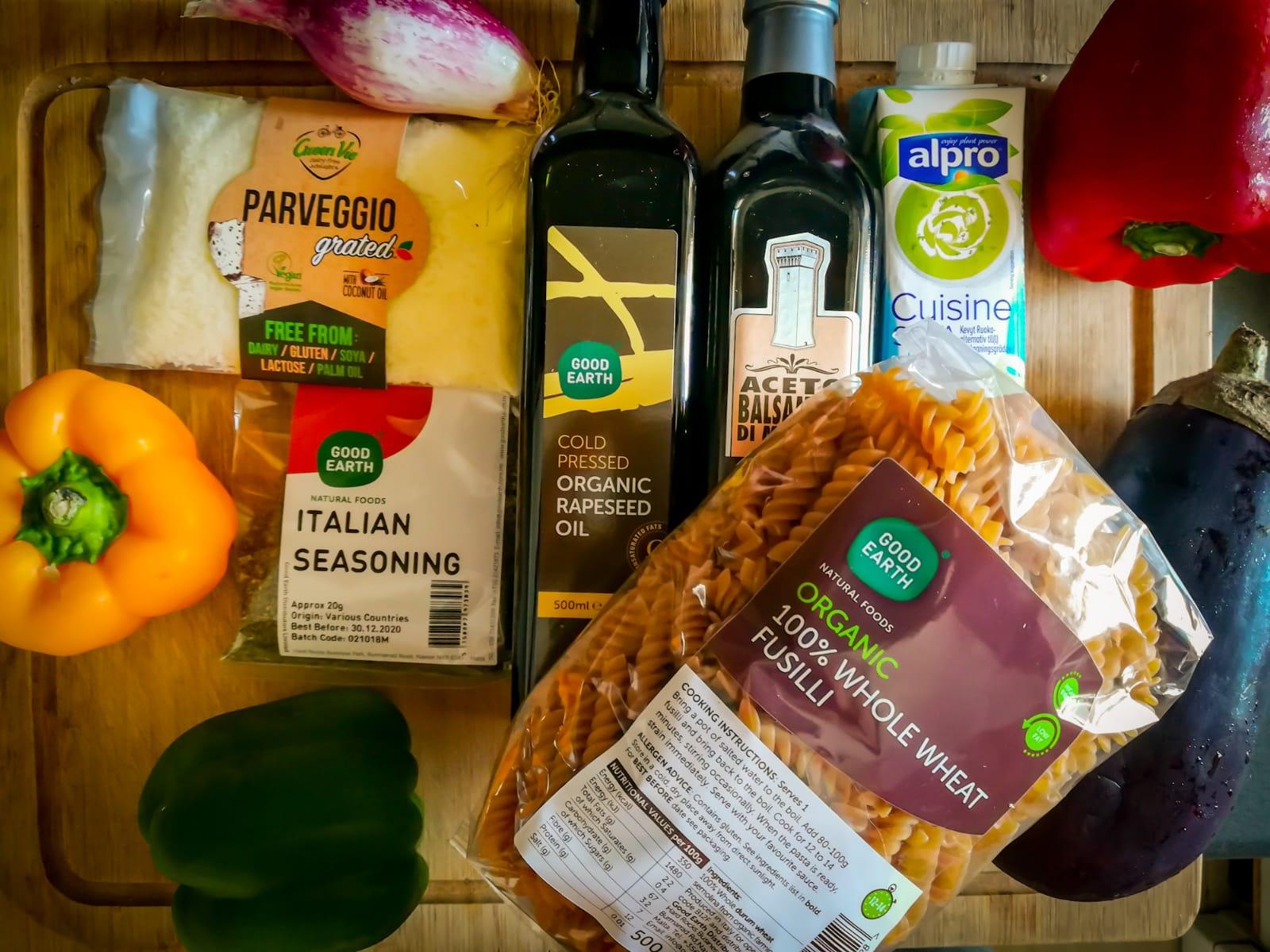 ramona debono balsamic roasted vegetable fusilli ingredients