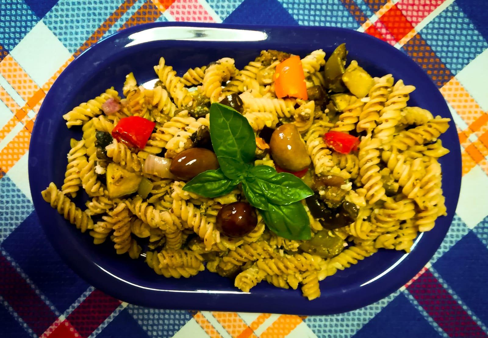 balsamic roasted vegetable fusilli