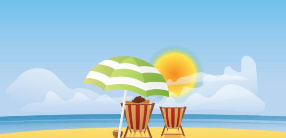 Summer is fun, sun, beach and ice cream