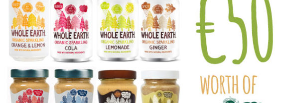 Facebook Competition – Win €50 worth of Whole Earth products – ends 27th September