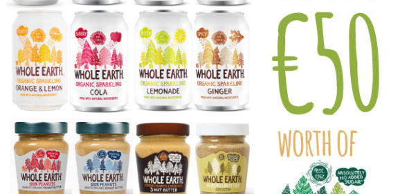 Facebook Competition – Win €50 worth of Whole Earth products – ends 27th August