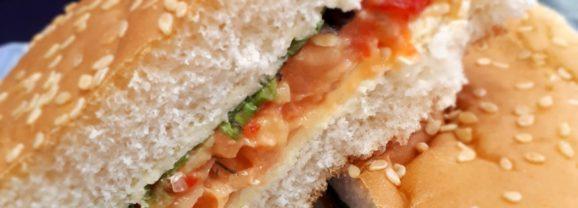 Chickpea smash sandwich filling
