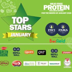 Top Stars – Meat Free Protein promotions at PAMA and PAVI for January