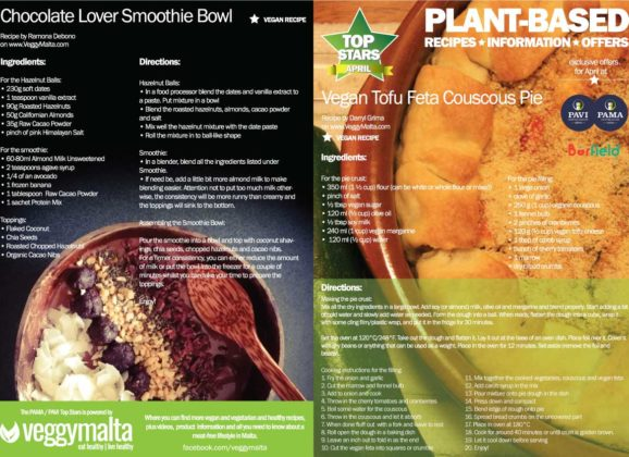 Plant-based offers at PAMA and PAVI during April