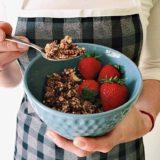 Home made oil-free chocolate granola