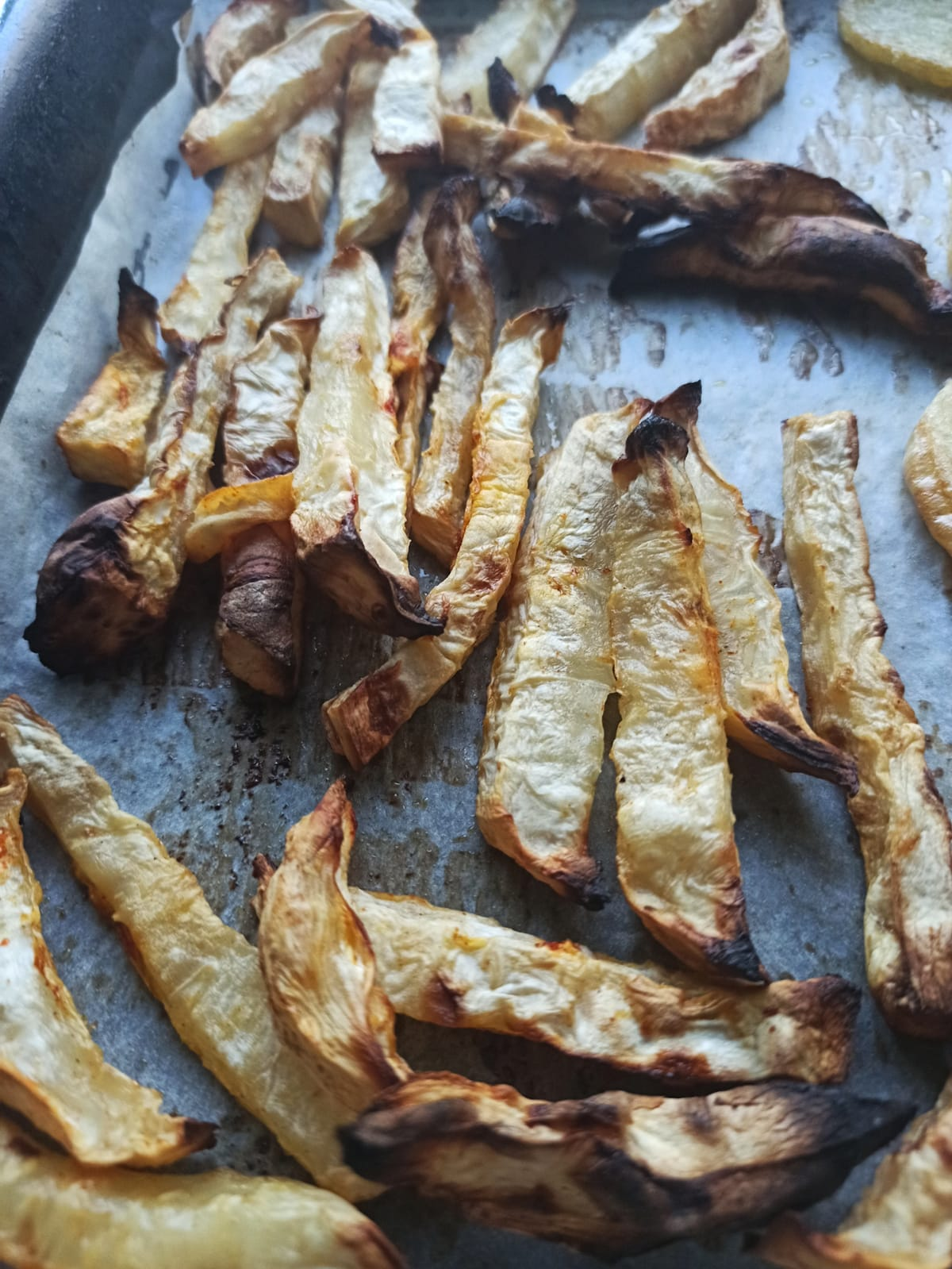 American-style hot dogs with celery root fries vegan