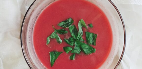 Coconut beetroot soup