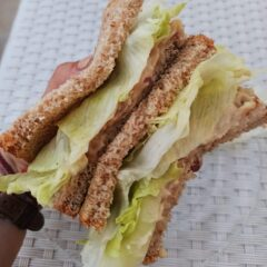 "Butter bean ""tuna"" salad sandwich"