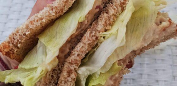 """Butter bean """"tuna"""" salad sandwich"""
