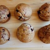 Vegan nut and berry muffins