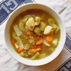 Hearty autumn veggie soup