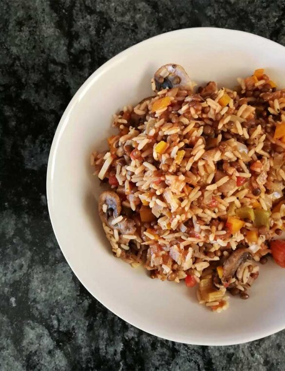 lentil-bolognese-and-rice