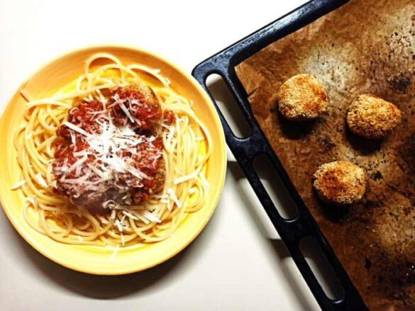 vegetarian-baked-tofu-meatballs-with-pasta-recipe