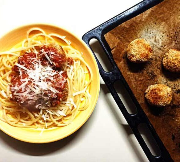 vegetarian-baked-tofu-meatballs-with-pasta-recipe