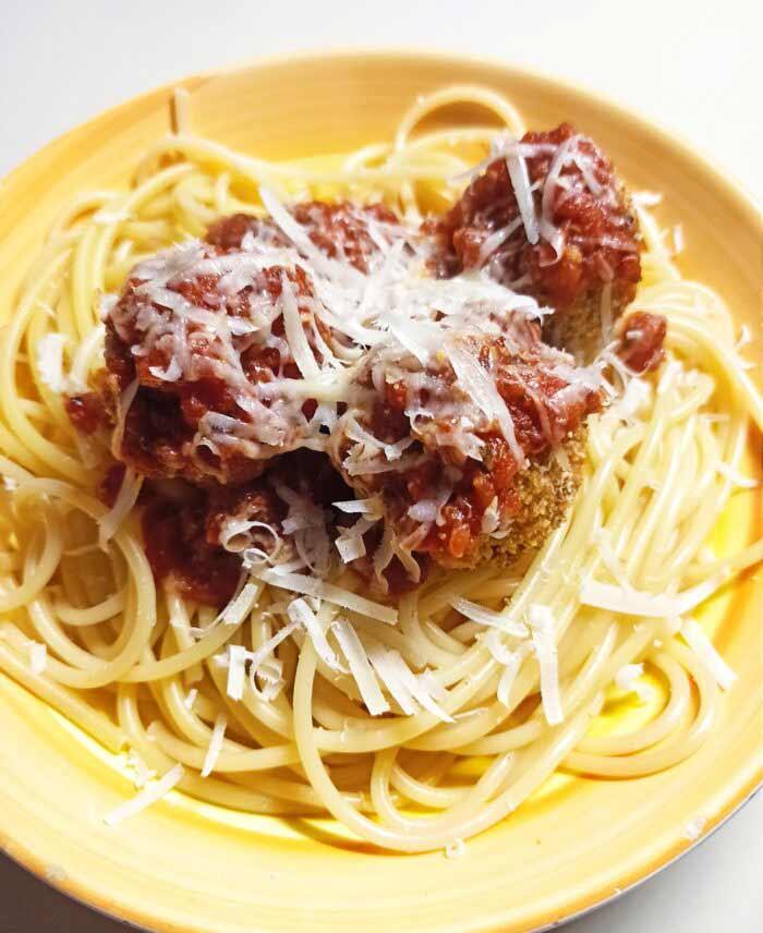 vegetarian-baked-tofu-meatballs-with-pasta